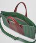 BOTTEGA VENETA Emerald Green Aubergine Edoardo Intrecciato Club Fumé Briefcase Business bag U dp