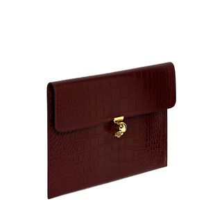 ALEXANDER MCQUEEN, Envelope, Cocco Soft Calf Leather Skull Closure Envelope