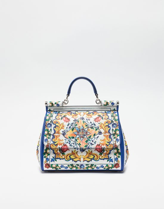 MEDIUM SICILY BAG IN PRINTED DAUPHINE LEATHER - Borse a mano - Dolce&Gabbana - Winter 2016