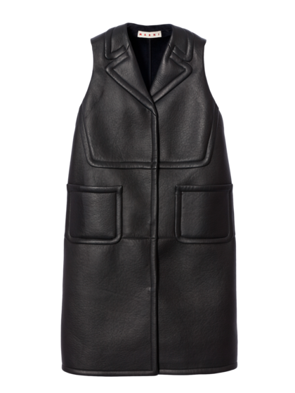 MARNI - Leather Gilet