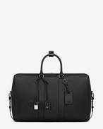 クラシック トワル ユニ サンローラン ダッフル 24 バッグ(ブラック/コーティングコットン&リネンキャンバス)