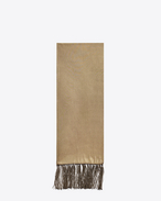 EVENING Scarf in Gold and Black Viscose, Acetate and Polyester Lamé