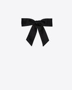 Lavaliere Bow Tie in Black Silk Satin