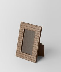 BOTTEGA VENETA - Living, Ash Intrecciato Nappa Small Photo Frame