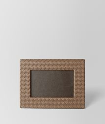 BOTTEGA VENETA - Photo frames, Ash Intrecciato Nappa Small Photo Frame