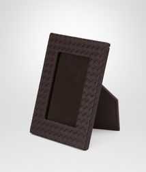 BOTTEGA VENETA - Photo frames, Ebano Intrecciato Nappa Small Photo Frame