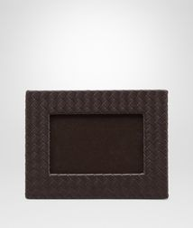 BOTTEGA VENETA - Living, Ebano Intrecciato Nappa Small Photo Frame