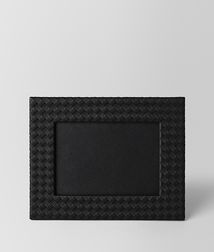 BOTTEGA VENETA - Living, Nero Intrecciato Nappa Medium Photo Frame