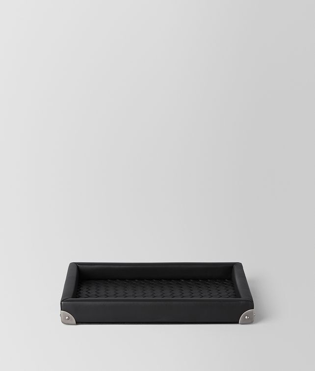 BOTTEGA VENETA Nero Intrecciato Nappa Tray Desk accessory E fp