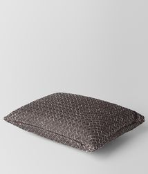 BOTTEGA VENETA - Living, Carbone Intrecciato Linen Rectangular Pillow