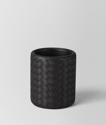 BOTTEGA VENETA - Living, Nero Intrecciato Nappa Pencil Holder