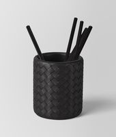 PENCIL HOLDER IN NERO INTRECCIATO NAPPA