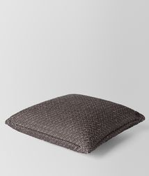 BOTTEGA VENETA - Living, Carbone Intrecciato Linen Square Pillow