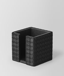 BOTTEGA VENETA - Living, Nero Intrecciato Nappa Memo Paper Holder