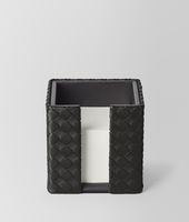 MEMO PAPER HOLDER IN NERO INTRECCIATO NAPPA