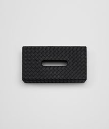BOTTEGA VENETA - Living, Nero Intrecciato Nappa Horizontal Tissue Box