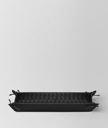 BOTTEGA VENETA - Living, Nero Intrecciato Nappa Pen Tray
