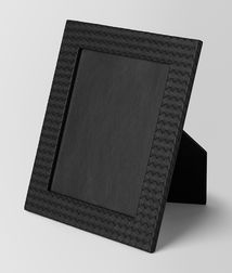 BOTTEGA VENETA - Photo frames, Nero Intrecciato Nappa Large Photo Frame