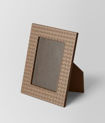 BOTTEGA VENETA - Photo frames, Ash Intrecciato Nappa Medium Photo Frame