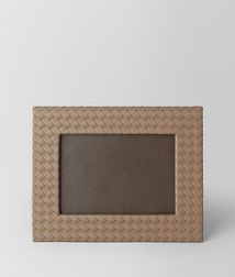 BOTTEGA VENETA - Living, Ash Intrecciato Nappa Medium Photo Frame