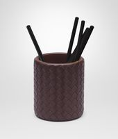 Ebano Intrecciato Nappa Pencil Holder