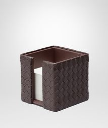 BOTTEGA VENETA - Living, Ebano Intrecciato Nappa Memo Paper Holder