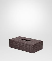BOTTEGA VENETA - Living, Ebano Intrecciato Nappa Horizontal Tissue Box