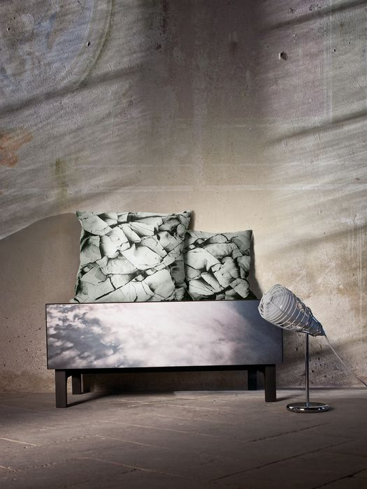 MONOCHROME CLIFF CUSHION 60X60