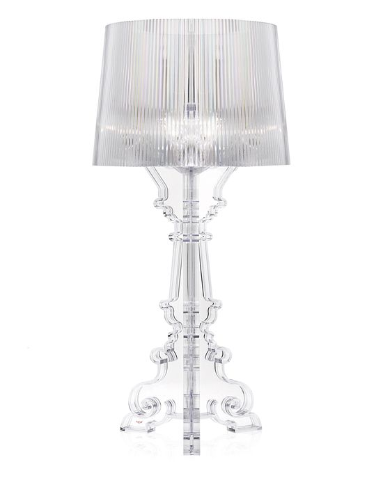 Kartell bourgie table lamp shop online at for Suspension transparente