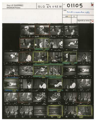 MAGNUM PHOTOS Miles Davis in Paris, 1969, Contact Sheet Print Photography prints and posters mixte