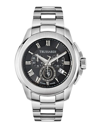 TRUSSARDI メンズ 腕時計 シルバー ステンレススチール