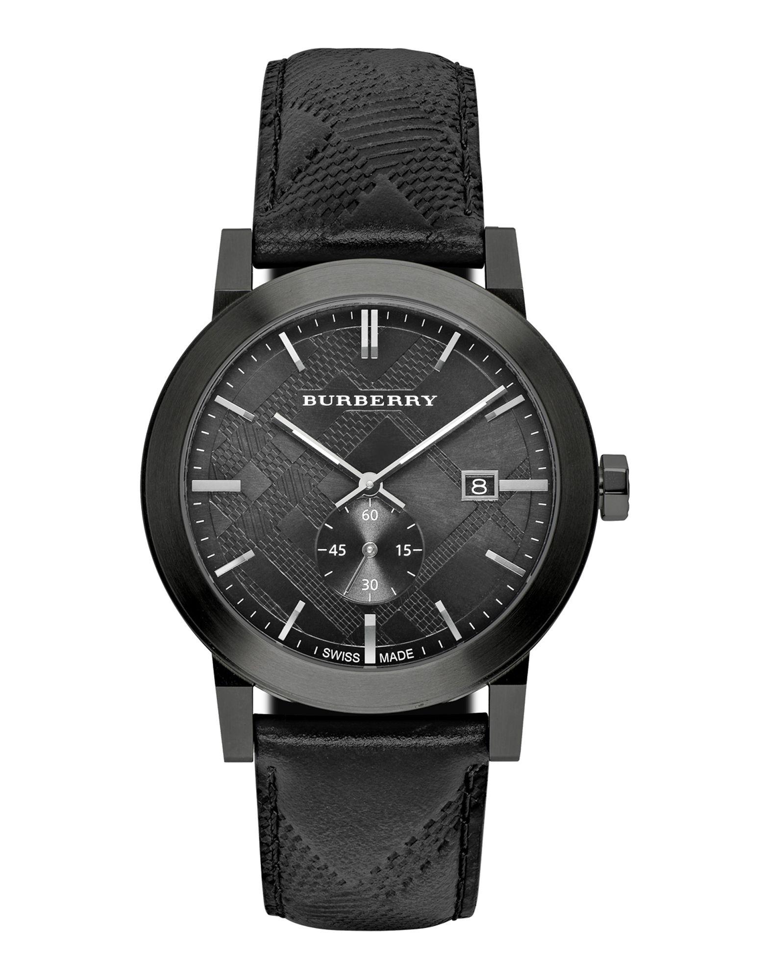 メンズ BURBERRY 腕時計 ブラック