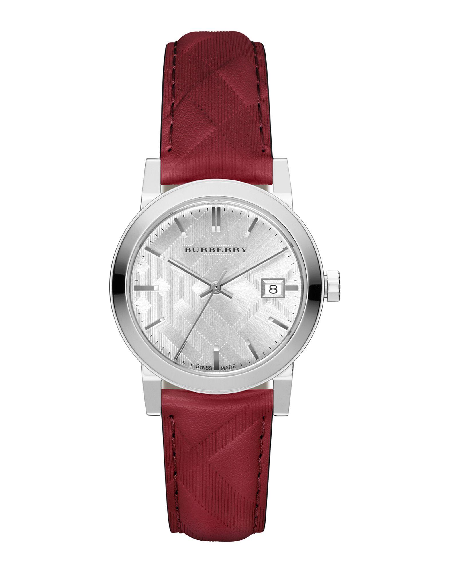 レディース BURBERRY 腕時計 レッド