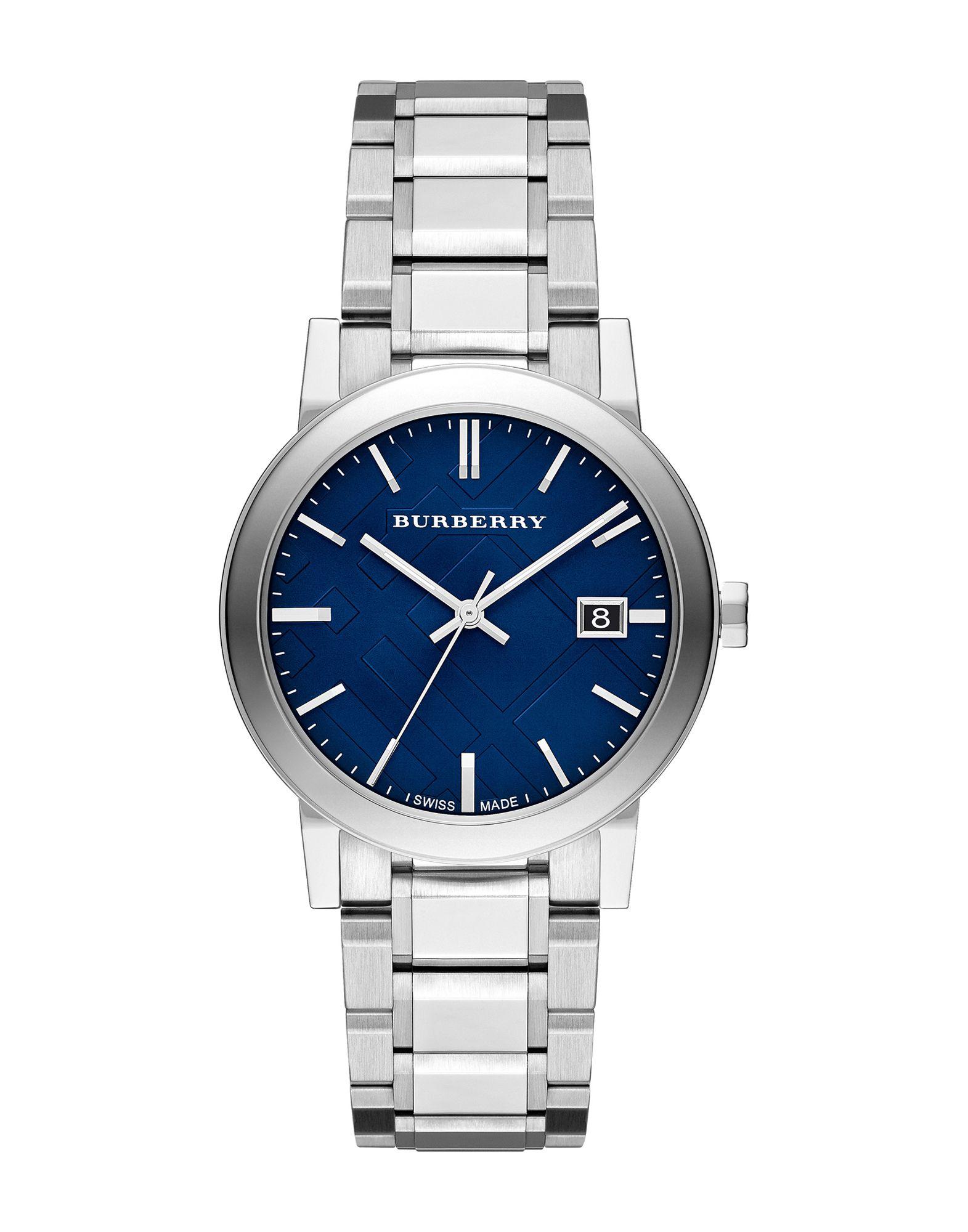 メンズ BURBERRY 腕時計 ダークブルー