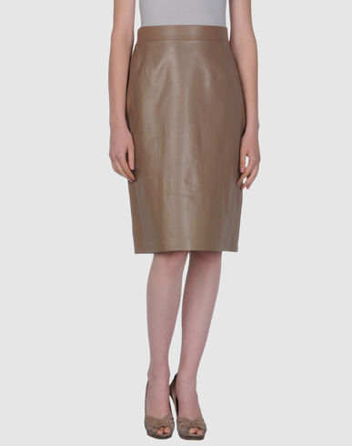 VALENTINO ROMA - Leather skirt