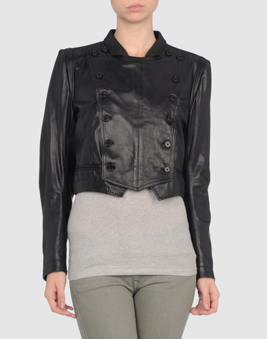 ANN DEMEULEMEESTER - Leather outerwear