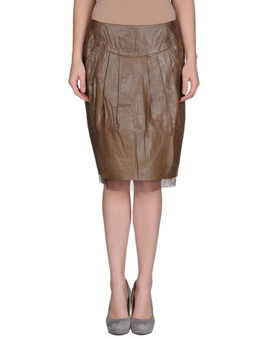 TWIN-SET Simona Barbieri - Leather skirt