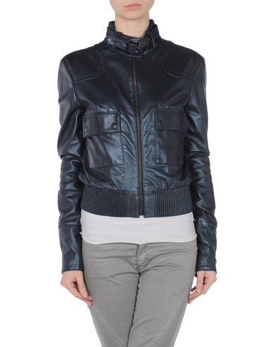 GF FERRE' - Leather outerwear