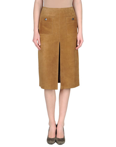 COUTURE DU CUIR - Knee length skirt