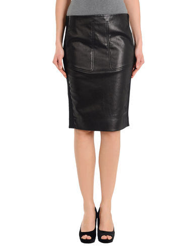 BALENCIAGA - Leather skirt