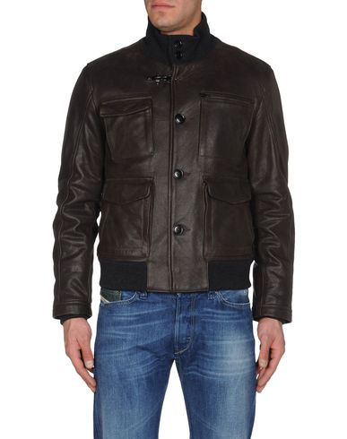 FAY - Leather outerwear