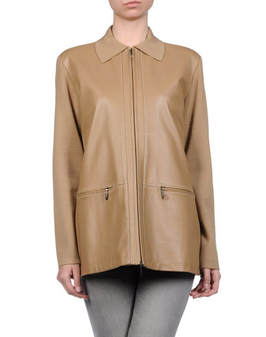 BURBERRY - Leather outerwear