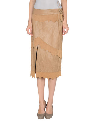 ROBERTA SCARPA - Leather skirt