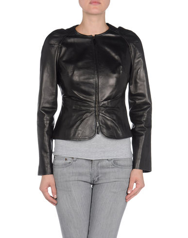 VERSACE - Leather outerwear