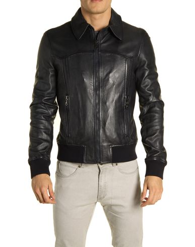 D&amp;G - Leather outerwear