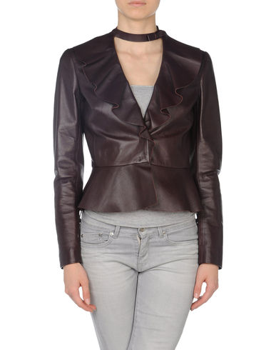VALENTINO - Leather outerwear