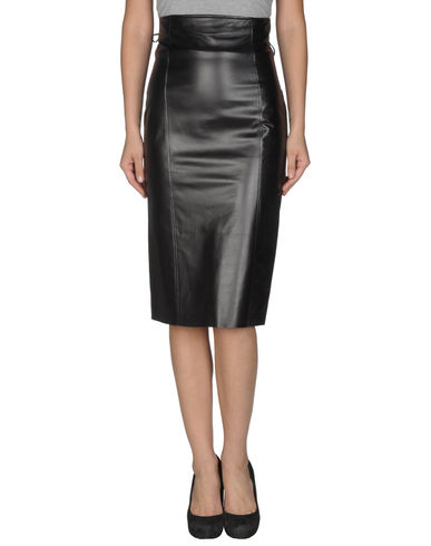 RALPH LAUREN COLLECTION - Leather skirt
