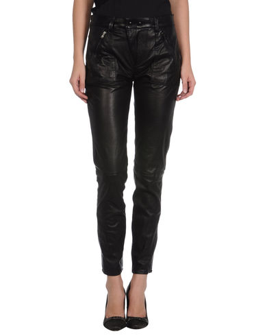 DIESEL BLACK GOLD - Leather pants