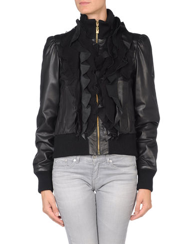 CLASS ROBERTO CAVALLI - Leather outerwear