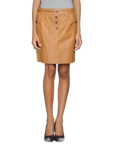 LE MONT ST MICHEL - Leather skirt